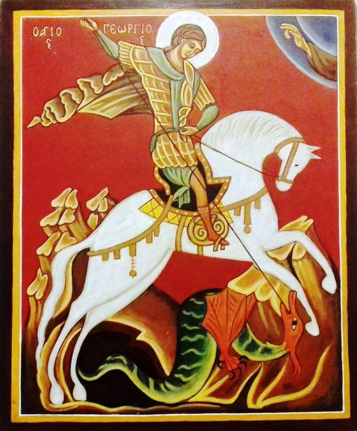Szent György és a sárkány Oroszország XV. század