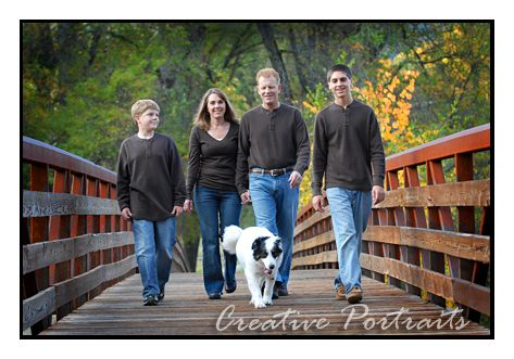 family portrait. I like how this one includes the dog without being cheesy