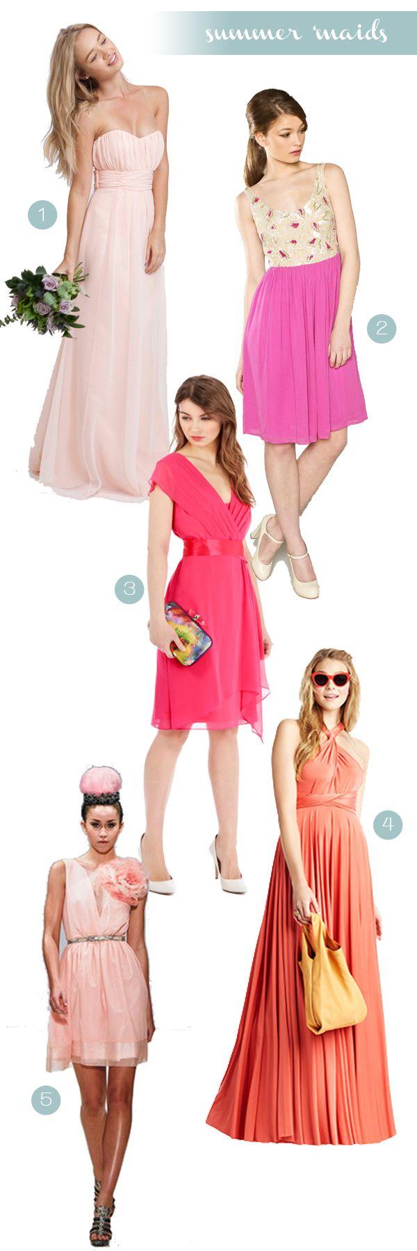 Best 25 fuschia bridesmaid dresses ideas on pinterest fuschia top five summer bridesmaids dresses fuschia bridesmaid ombrellifo Images