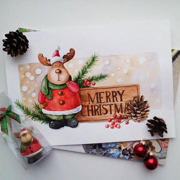 Новогодние открытки скетч