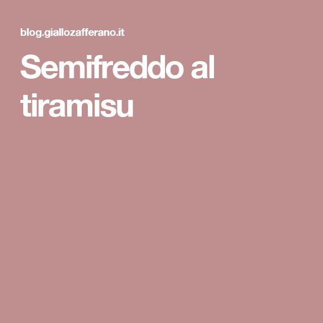 Semifreddo al tiramisu