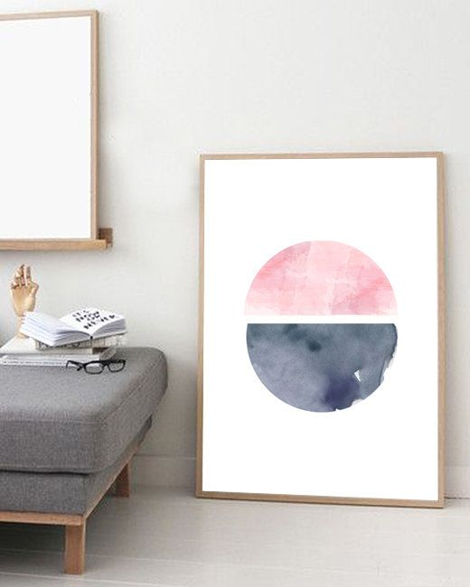 Watercolor painting Abstract watercolor Circle by simplegeometry