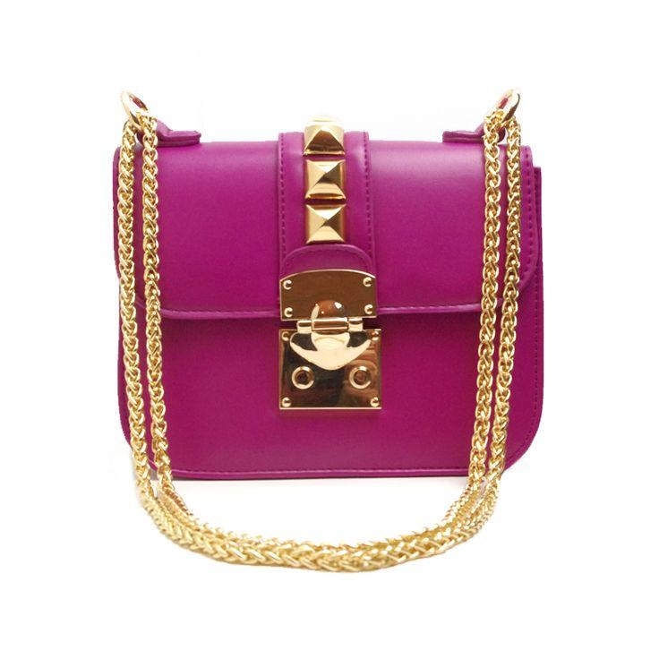 A Midnight Wonderland | The Rachael Boysenberry Purple Studded Bag