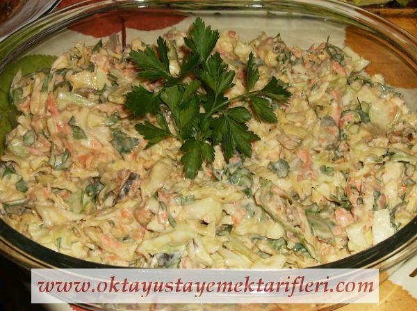 Yoğurtlu Beyaz Lahana Salatası - Salata Tarifleri. Lahana salatası nasıl yapılır? Oktay Usta resimli Yoğurtlu Beyaz Lahana Salatası Tarifi için tıklayın.