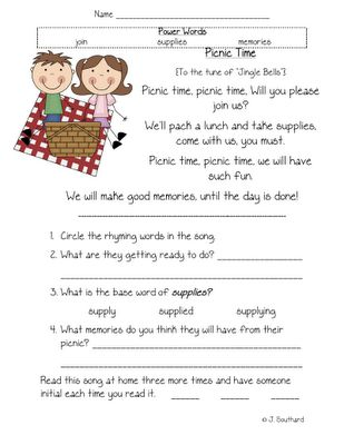 Printables 1st Grade Reading Comprehension Worksheets 1000 images about first grade reading on pinterest fluency picnic comprehension