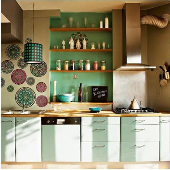 menta en una cocina Kitchens, Interior, Idea, Kitchen, Bright House