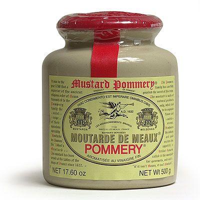 touted as the World's Best Mustard ??  Pommery Moutarde de Meaux Mustard in Crock Jar 17 oz.