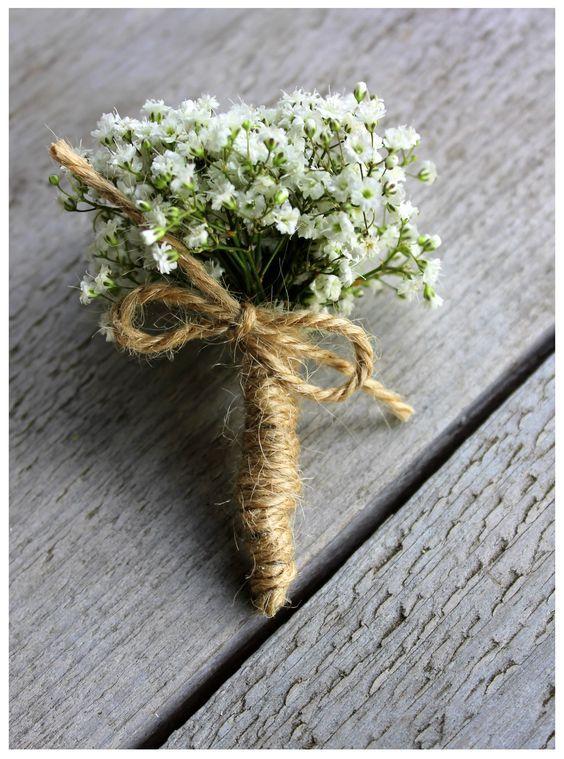 Corsage gipskruid | Via Flora | Pinterest