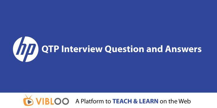 #QTP Interview Question and Answers @ bit.ly/QTP-Interview-Questions QTP #OnlineTraining @ bit.ly/QTP-OnlineTraining #QuickTestPro