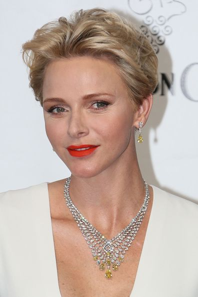 Princess Charlene arrives at the 56th Monte Carlo Opening Ceremony at the…