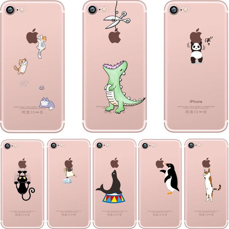 Animals Shape Soft Silicon Cases for iPhone 8 Plus