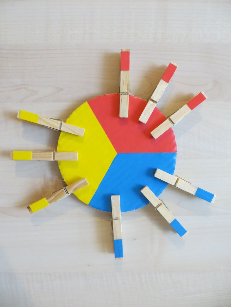 Clothespins - basic colors for todlers