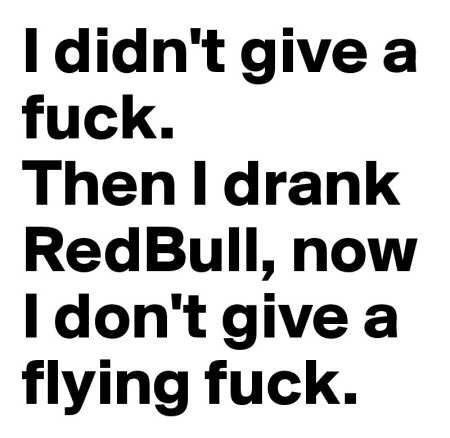 I DON'T GIVE A FLYING FUCK 😁