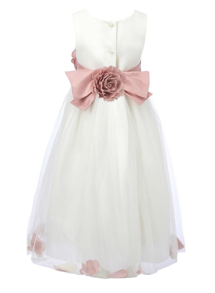 Fleur Petal Dusky Pink Bridesmaid Dress - BHS