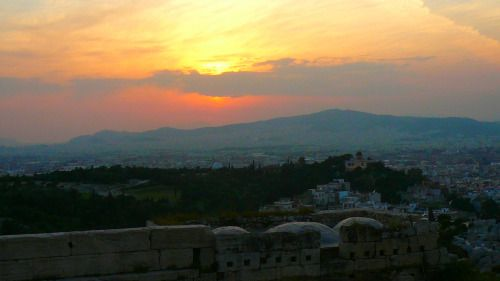 Greece - Twilight in Athen