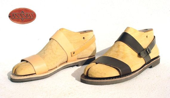 ANANIAS Roman Greek Sandals leather handmade in Greece