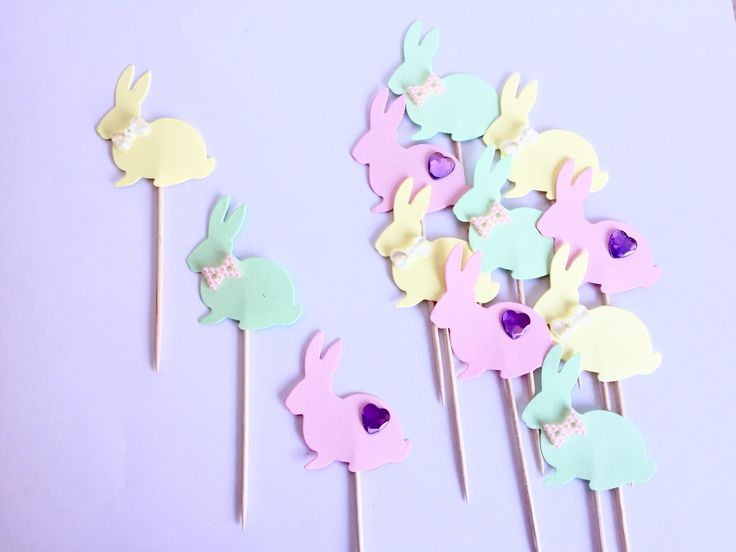 A personal favourite from my Etsy shop https://www.etsy.com/uk/listing/574442728/easter-bunny-cupcake-toppers-bunny
