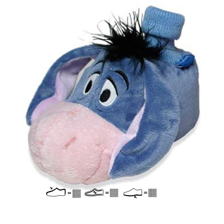 SAMs Tierhausschuhe Disney Winnie Puuh I Aah Hausschuh lustig witzig warm, iaah: Amazon.de: Schuhe & Handtaschen