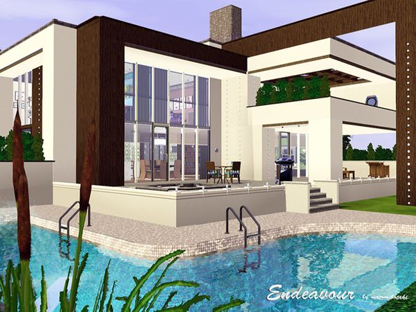 Sims 3 modern house blueprints images for Modern house sims 3