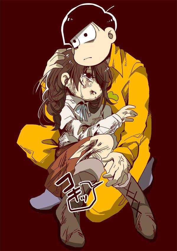 Osomatsu-san- Jyushimatsu and girl #Anime「♡」Dark