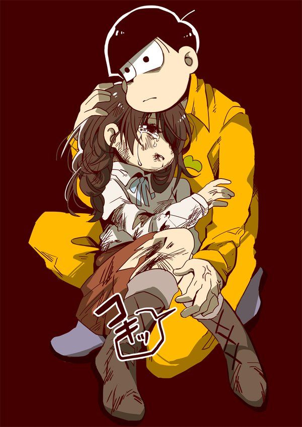 Osomatsu-san- Jyushimatsu and girl #Anime「♡」Dark