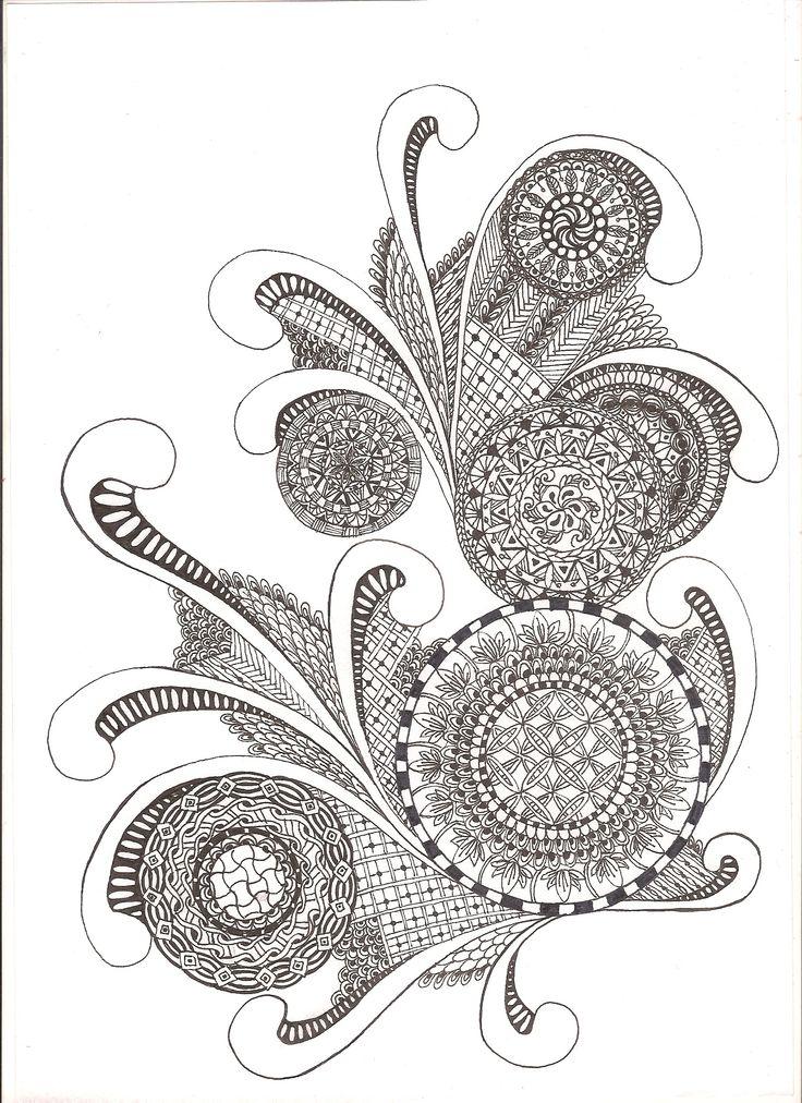 zentangle, indian ink