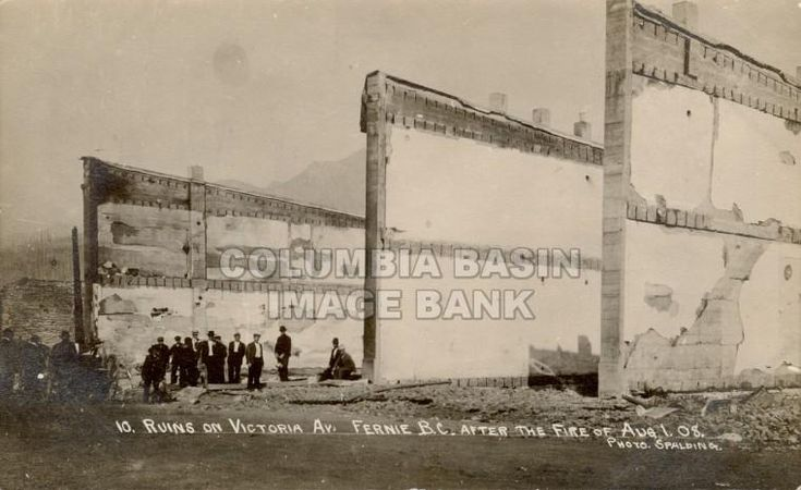 Ruins on Victoria Ave. Fernie BC After the Fire Aug. 1, 1908