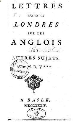 Image illustrative de l'article Lettres philosophiques