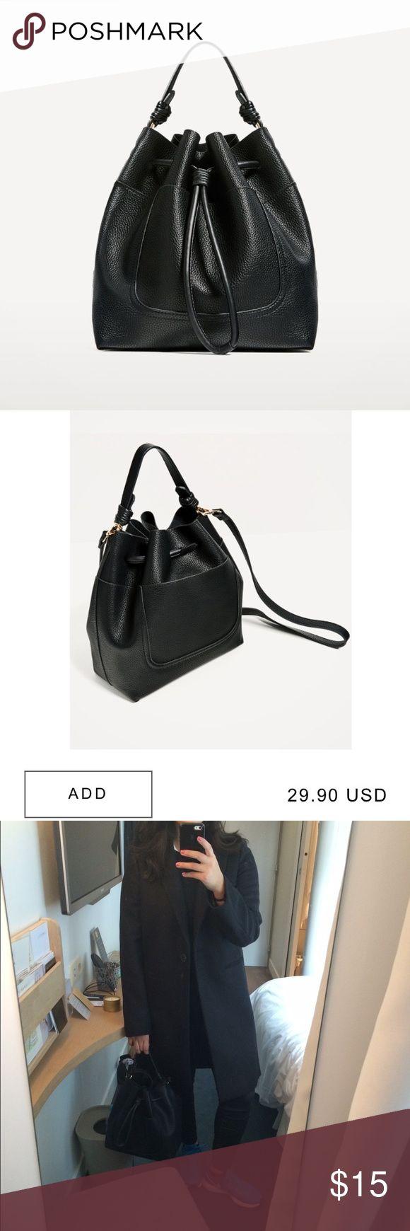 Zara bucket bag Bought it in Paris this last nov. In perfect conditions still 30 bucks online. Zara Bags Satchels