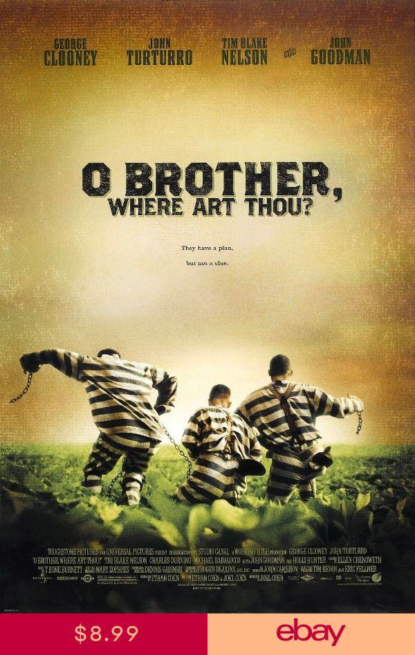 "Silk Fabric Movie Poster 11/""x17/"" 24/""x36/"" O Brother Where Art Thou"