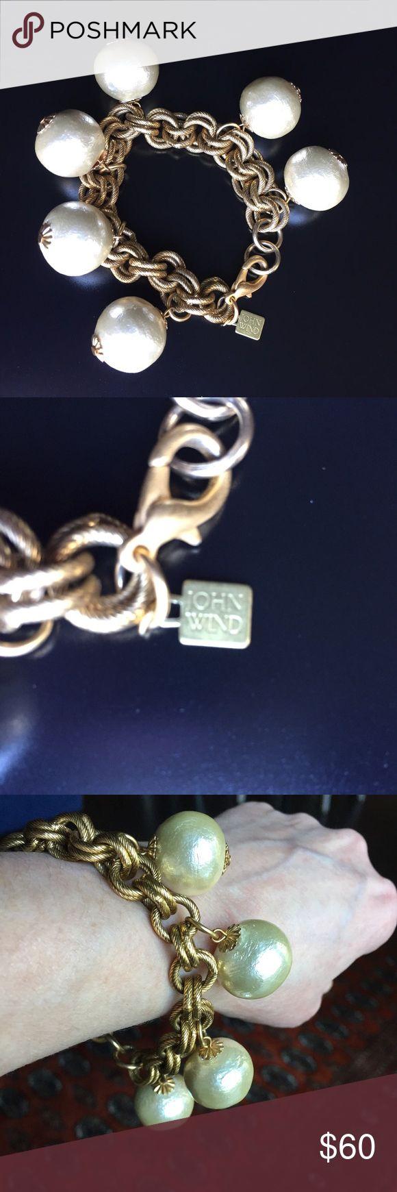 """John Wind Gold Cotton Pearl Bracelet John Wind of Maximal Art Gold cotton peal bracelet. Length is 7.5"""" long. John Wind Jewelry Bracelets"""