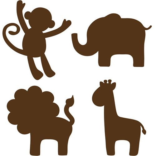 baby animal silhouettes - Google Search