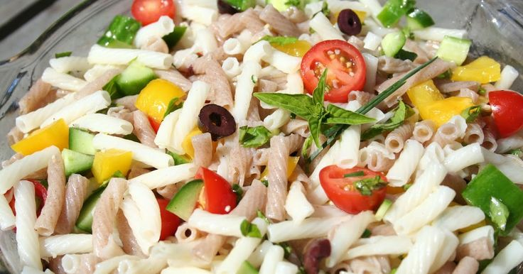 The Healthy Happy Wife: Gluten Free Pasta Salad (Dairy and Gluten Free)