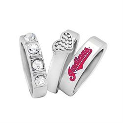Cleveland Indians Stacked Ring Set