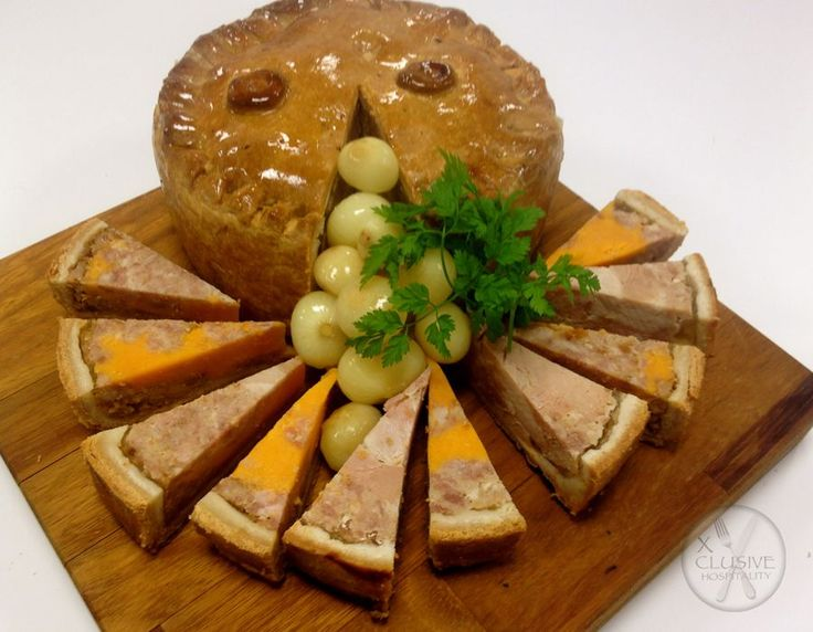Xclusive Pork and Red Leicester Pie, Fresh Pickled Onions #catering #events #leicestershirefood #xclusive