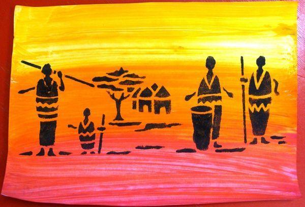 Arts visuels africain la maternelle de vivi afrique for Peinture qui masque les imperfections