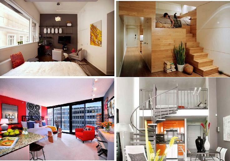 20 примеров оформления квартиры-студии : Все чаще мы встречаем небольшие пространства. Студенты и семьи с детьми чаще живут на небольших квадратных метрах, но часто встречаются конструктивные проблемы, из-за которых требуется жертвовать пространством. Ниже представлено...