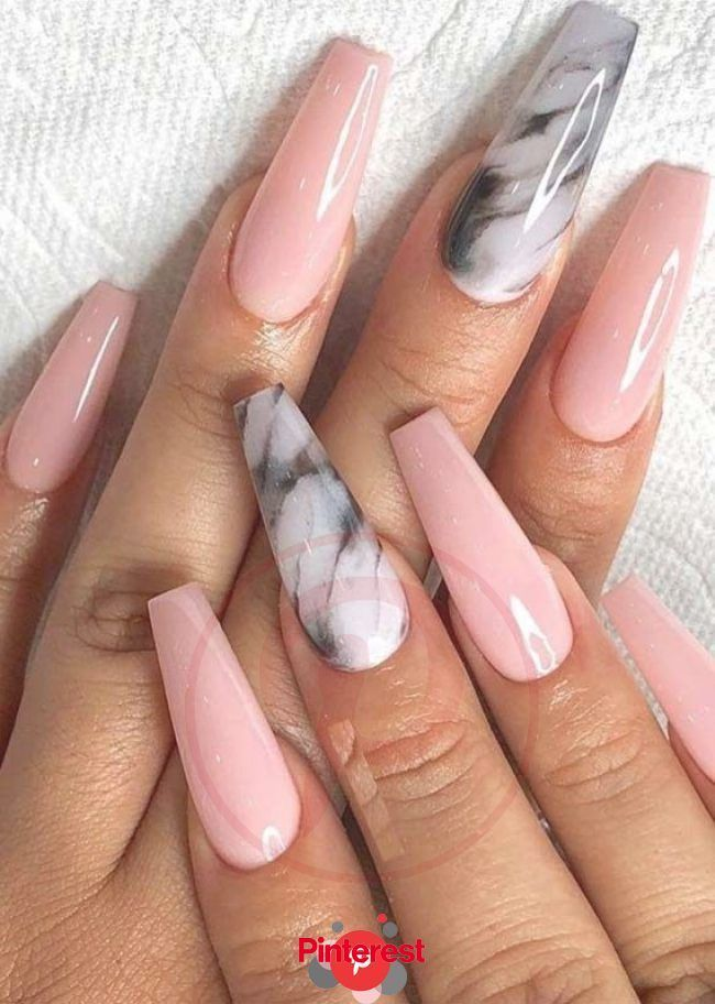 Marbles Halloween 2020 Cutest Marble Shaped Pink Nail Arts to Create in 2019 | Coffin