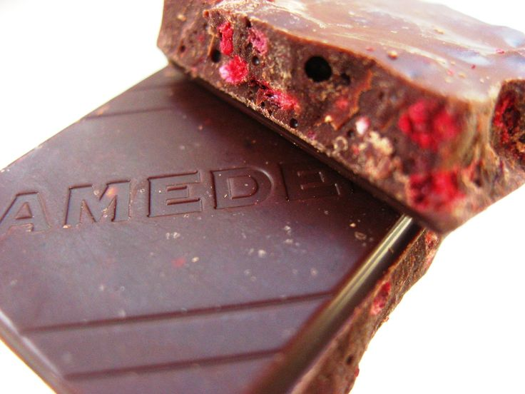 Amedei Toscano Red berries in dark chocolate imported from Italy.