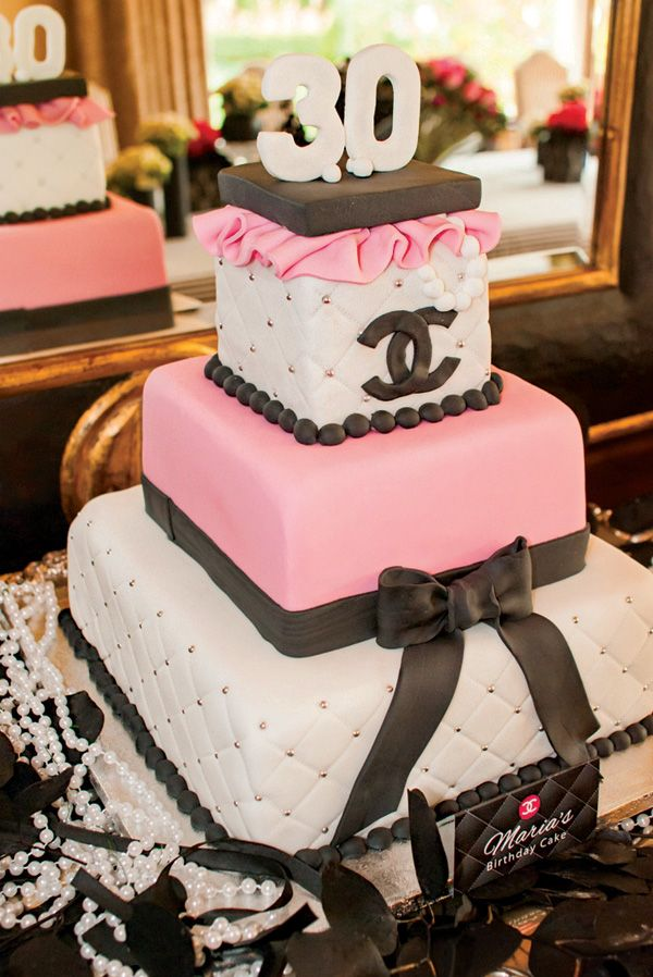 Coco Chanel inspired birthday cake (with quilting details)