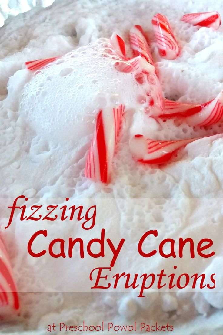 fun!! Christmas science: Fizzing candy cane eruptions!!