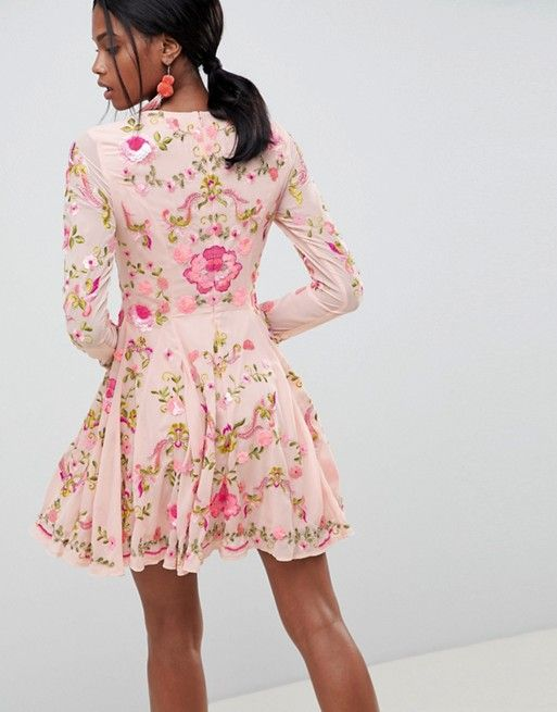 725e9bbc7 ASOS Edition | ASOS EDITION Beautiful Embellished Floral Skater Dress