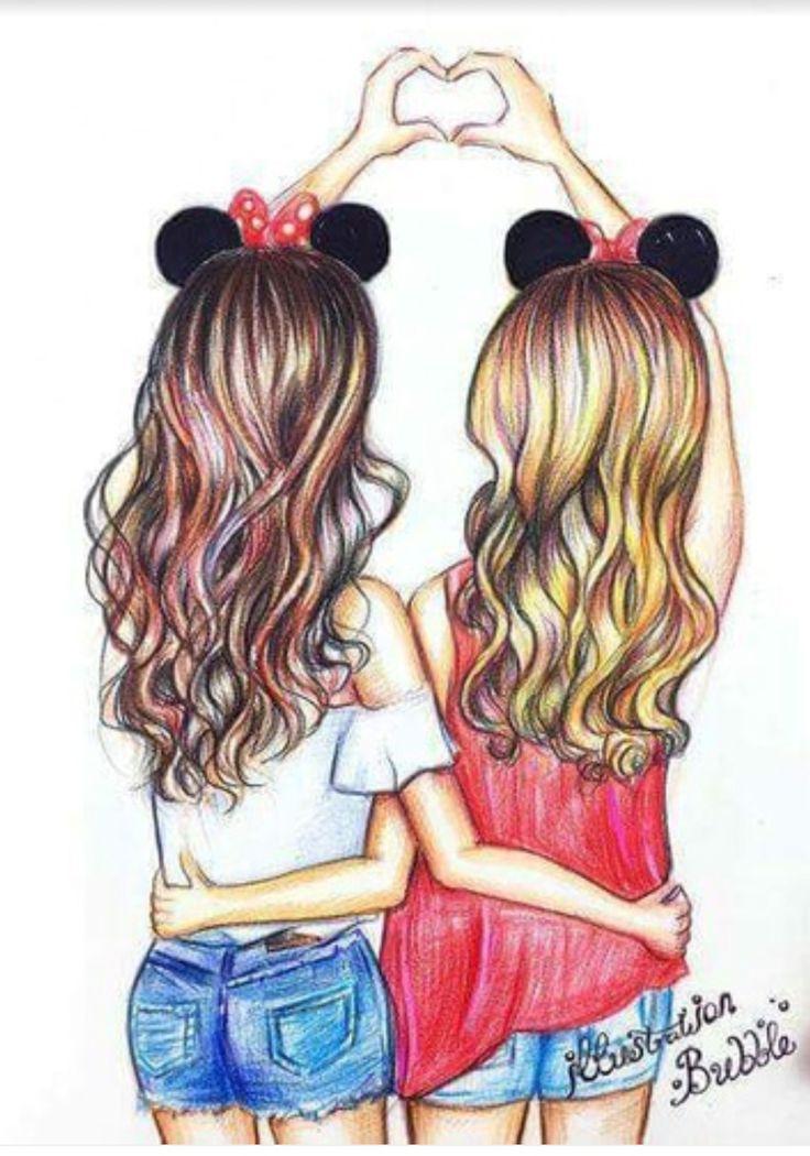 рисунки самые лучшие подруги вместе этот