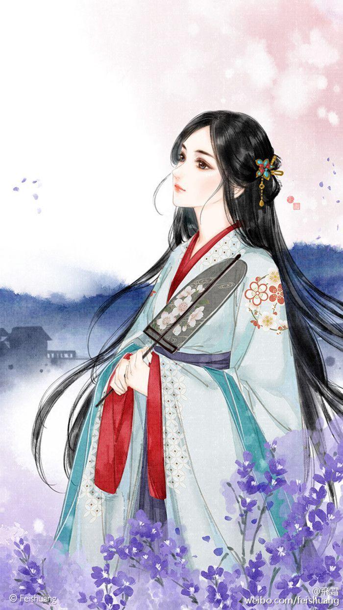 Chinese art girl,,illustration 예쁜 그림, 그림, 일러스트레이션