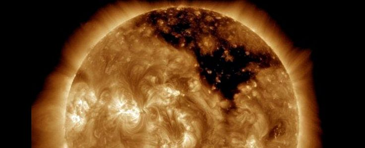 A coronal hole - an astronomical phenomenon that pops up on the sun's corona (atmosphere) from time to time.