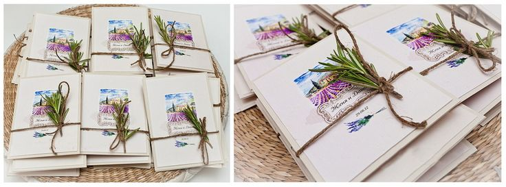 Invitations for wedding in provence style. Provence wedding