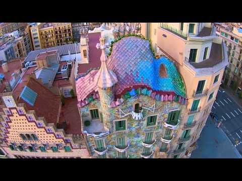 Casa Batlló, Antoni Gaudí, Barcelona - BCNDJI - DJI drone over Casa Batlló DJI Phantom 2 vision + - YouTube