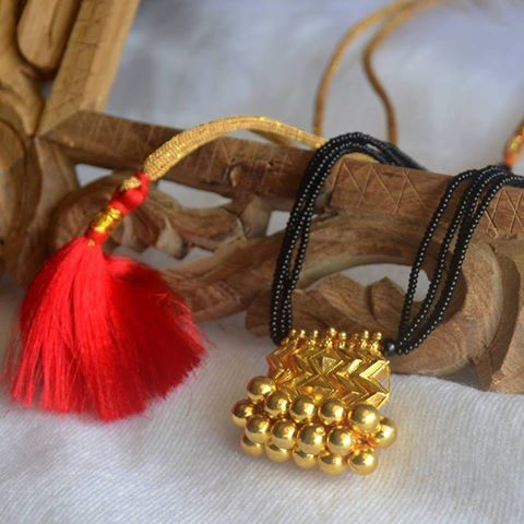 Exclusive Black beads Chain With gold plated Pendent | Buy Online Jewellery | Elegant Fashion Wear Price;3200 #stunning #black #beads #chain #gold #plated #pendent
