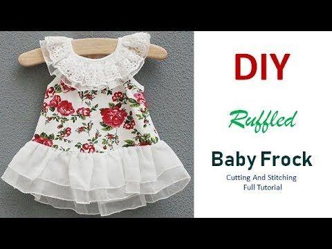 1970debf7e88 DIY Ruffled Baby Frock Cutting And Stitching Full Tutorial - YouTube ...