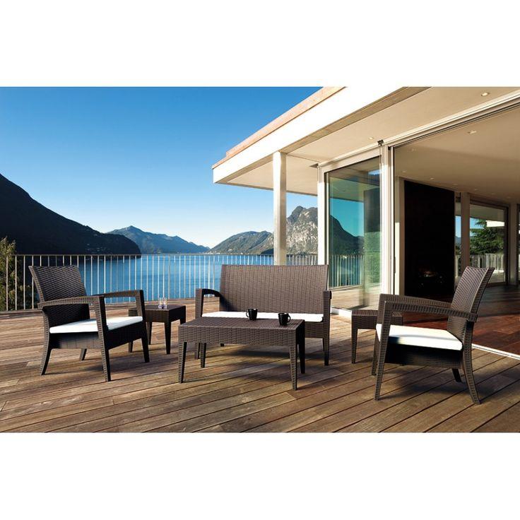 Set Miami. Moderno ed elegante questo set da giardino è adatto ad arredare il proprio giardino di casa ma anche quello di locali e bar.